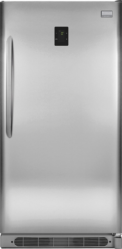 Frigidaire - Gallery 17.0 Cu. Ft. Frost-Free 2-in-1 Upright Freezer or Refrigerator - Stainless Steel (Silver)