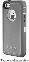 OtterBox - Defender Series Case and Holster for Apple® iPhone® 5c - White/Gray