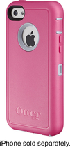 OtterBox - Defender Series Case and Holster for Apple® iPhone® 5c - Powder Gray/Pink