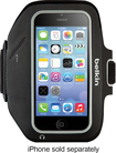 Belkin - Sport-Fit Plus Armband for Apple® iPhone® 5, 5c and 5s - Black