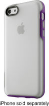 Belkin - Grip Candy Case for Apple® iPhone® 5c - Clear/Purple