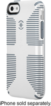 Speck - Candyshell Grip Case for Apple® iPhone® 5c - White/Gravel Gray