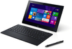 "Sony - VAIO 11.6"" 2-in-1 Touch-Screen Laptop - Intel Pentium - 4GB Memory - 128GB Solid State Drive - Black"