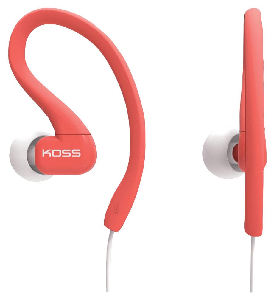 Koss - KSC32 Fitclips In-Ear Headphones - Coral (Pink)