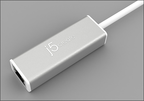 j5 create - USB 3.0-to-Gigabit Ethernet Adapter - Gray