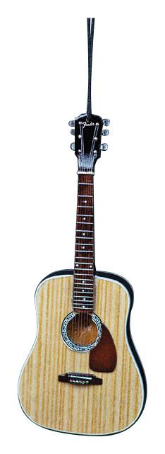 "Axe Heaven - 6"" Fender PD-1 Dreadnaught Acoustic Guitar Replica Holiday Ornament - Brown/Black/White"