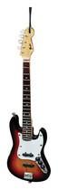 "Axe Heaven - 6"" Fender Sunburst Jazz Bass Guitar Replica Holiday Ornament - Orange/Red/Black/Brown"