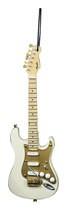 "Axe Heaven - 6"" Fender '50s Strat Guitar Replica Holiday Ornament - Tan/White"
