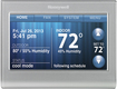 Honeywell - Smart Thermostat with Wi-Fi Capability - Silver