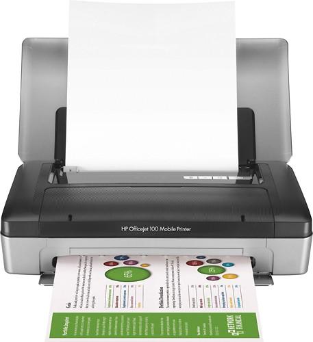 HP - Officejet 100 Wireless Printer - Gray/Black