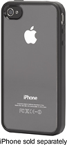 Griffin Technology - Reveal Hard Shell Case for Apple® iPhone® 4 and 4S - Black/Clear