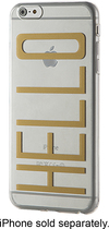 Dynex™ - Case for Apple® iPhone® 6 Plus - Gold/Clear