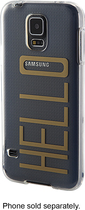Dynex™ - Soft Shell Case for Samsung Galaxy S 5 Cell Phones - Gold/Clear