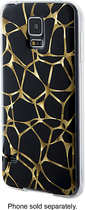 Dynex™ - Soft Shell Case for Samsung Galaxy S 5 Cell Phones - Black/Gold
