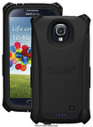 Trident - Electra Charging Case for Samsung Galaxy S 4 Cell Phones - Black