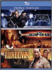 Doom / Scorpion King / Rundown (3 Disc) (Blu-ray Disc)