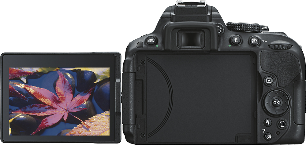 Nikon D     DSLR Camera with      mm VR Lens Black        Best Buy Best Buy
