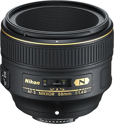 Nikon - AF-S NIKKOR 58mm f/1.4G Standard Lens - Black