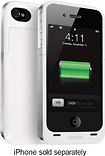 mophie - Juice Pack Air Charging Case for Apple iPhone 4 - White