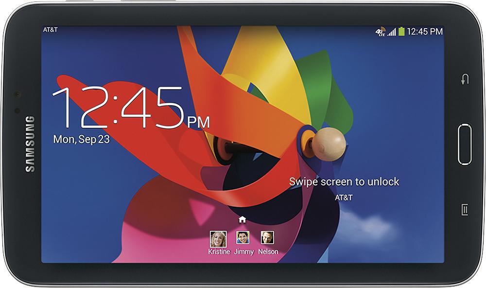 """Samsung - Galaxy Tab 3 - 7"""" - 16GB - Wi-Fi + 4G LTE AT&T - Black"""