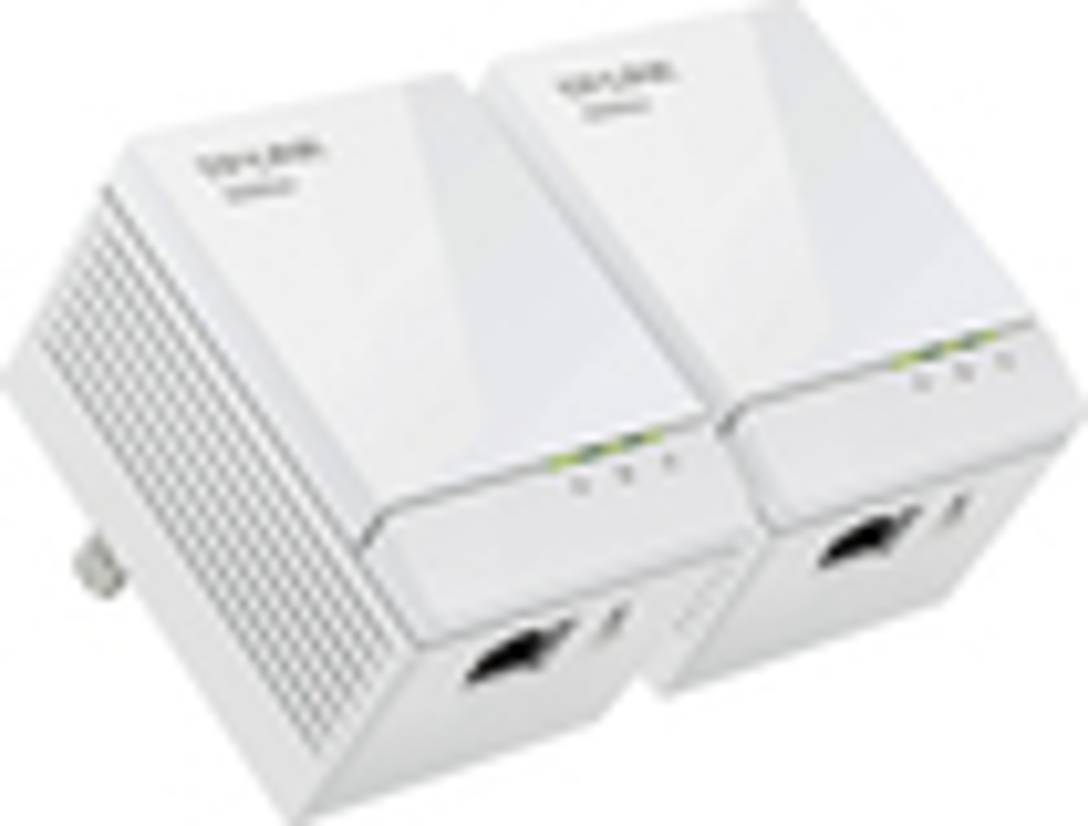 TP-Link - AV600 Gigabit Powerline Adapter Starter Kit - White