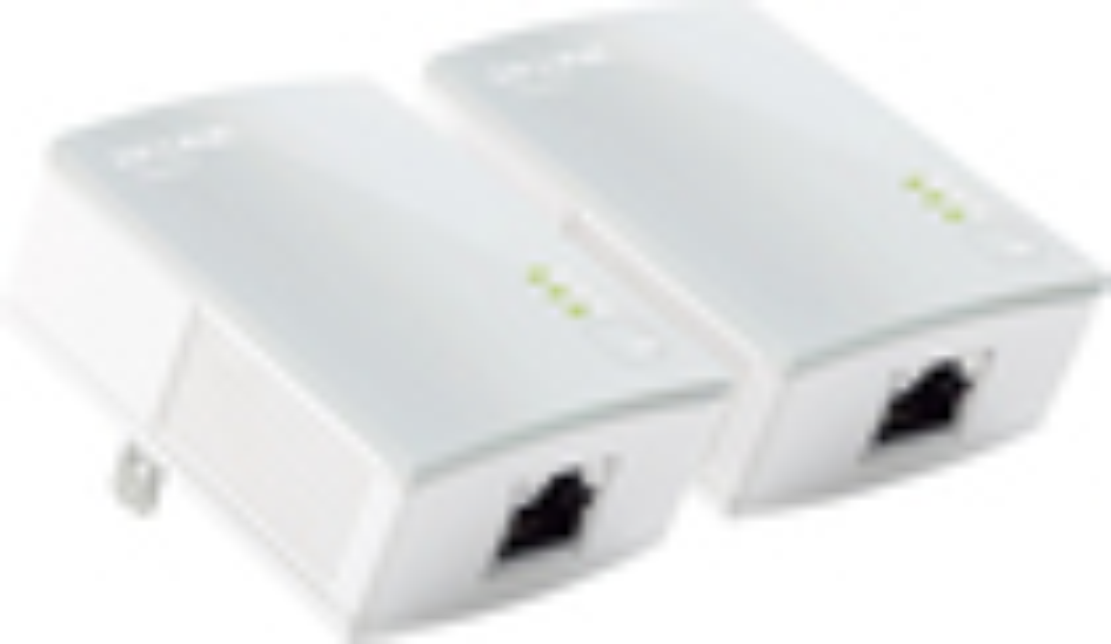 TP-LINK - Powerline AV500 Nano Adapter Starter Kit - White