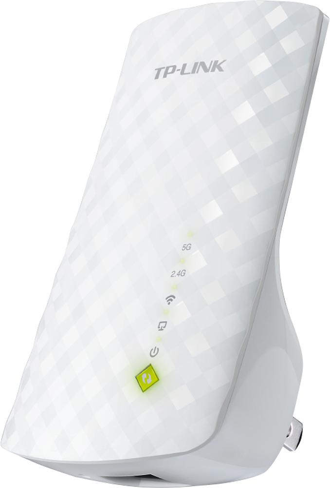 TP-LINK - Wireless AC750 Wall Plug Universal Wi-Fi Range Extender - White