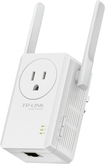 TP-LINK - Wireless N300 Wi-Fi Range Extender with AC Passthrough - White