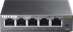 TP-LINK - 5-Port 10/100/1000 Mbps Gigabit Smart Ethernet Metal Switch - Gray