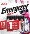 Energizer - MAX AA Batteries (8-Pack) - Silver
