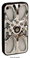 Sumdex - Full-Speed Wheel Case for Apple® iPhone® 4 and 4S - Shiny Silver