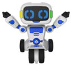 WowWee - Tipster Balancing Robot Friend - White/Blue