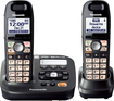 Panasonic - DECT 6.0 Plus Expandable Cordless Phone with Digital Answering System - Black