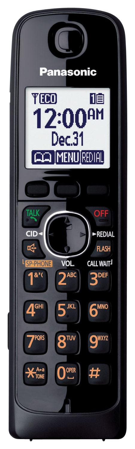 Panasonic - KX-TGA660B Dect 6.0 Cordless Expansion Handset - Black