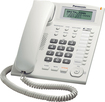 Panasonic - Corded Phone with Call-Waiting Caller ID - White