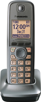 Panasonic - DECT 6.0 Cordless Expansion Handset for Select Expandable Phone Systems - Gun Metal