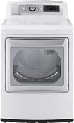 LG - 7.3 Cu. Ft. 14-Cycle Ultralarge-Capacity Steam Smart Gas Dryer - White
