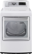 Lg - Easyload 7.3 Cu. Ft. 14-cycle Electric Dryer With Steam - White