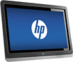 "HP - 23"" LED HD Touch-Screen Monitor - Black"