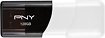 PNY - Attache 128GB USB 2.0 Flash Drive - Black/White
