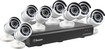 Swann - 8-Channel, 8-Camera Indoor/Outdoor High-Definition DVR Surveillance System - Black/White