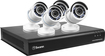 Swann - 8-Channel, 4-Camera Indoor/Outdoor High-Definition DVR Surveillance System - Black/White