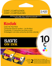 Kodak - 10C Ink Cartridge Twin-Pack - Multiple Colors