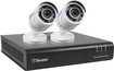 Swann - Pro-Series HD 4-Channel, 2-Camera Indoor/Outdoor High-Definition DVR Security System - Black/White