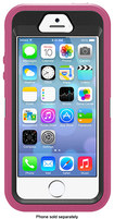 OtterBox - Defender Series Hybrid Case and Holster for Apple® iPhone® 5 and 5s - Raspberry