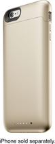 mophie - Juice Pack External Battery Case for Apple® iPhone® 6 Plus - Gold