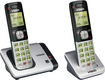 VTech - CS6419-2 DECT 6.0 Expandable Cordless Phone System - Silver