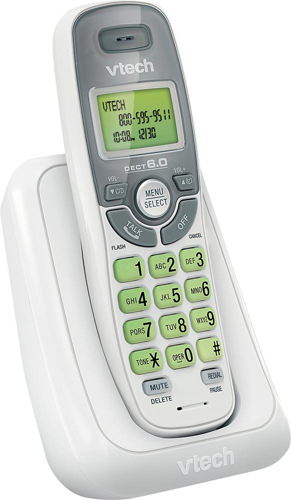 VTech - CS6114 DECT 6.0 Cordless Phone - White