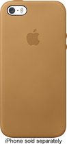 Apple® - Leather Case for Apple® iPhone® 5 and 5s - Brown