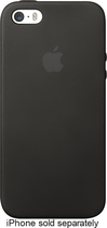 Apple® - Leather Case for Apple® iPhone® 5 and 5s - Black
